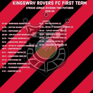 Fixtures for the first team